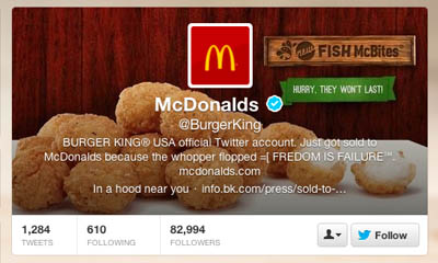 Burger King Twitter Hacked