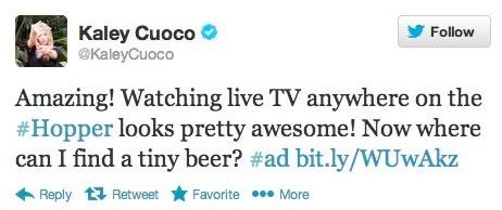 Bing Bang Theory actress tweet.