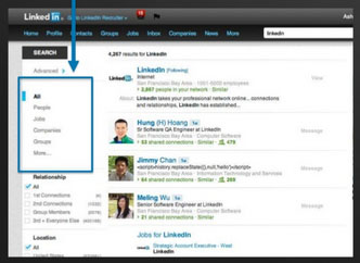Restrict the networks and parts of LinkedIn that you search.