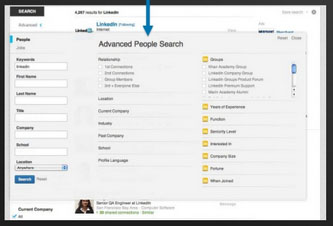 Filters allow for easier advanced searches.