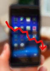 Unusually high number BlackBerry returns.