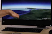 Leap Motion 3D now works with Google Earth.
