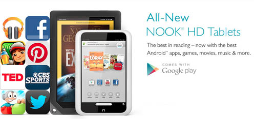 Barnes and Noble drops prices on Nook tablet for Mother's Day.
