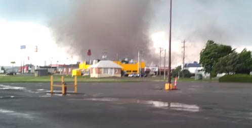 Moore tornado forms in Newcastle, OK.