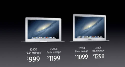 New prices announced for MacBook air