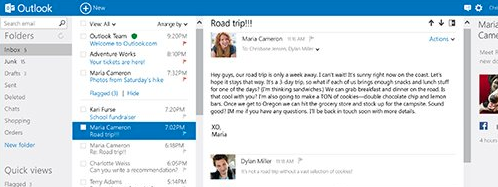 Multiple Outlook email accounts