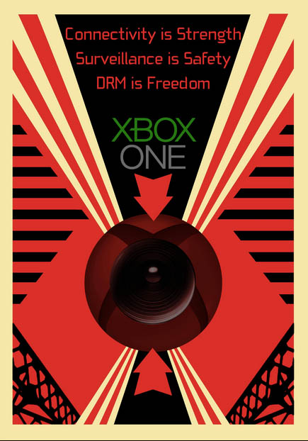 Xbox 1984-style poster