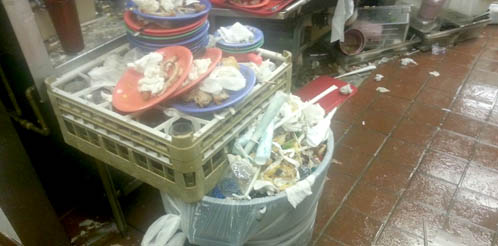 Photo shows unsanitary conditions at Golden Corral restaurant