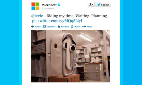 Microsoft Clippy Twitter reply