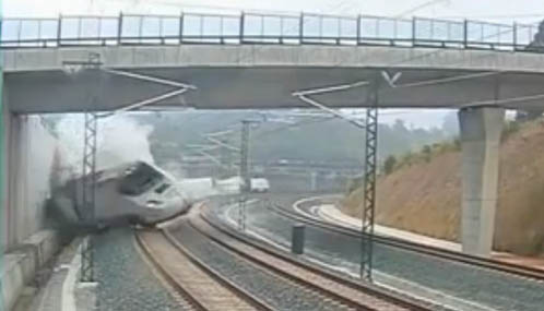 Video of train crash spain