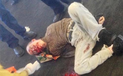 Graphic photo of LAX shooter Paul Ciancia
