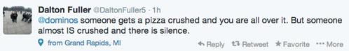 Domino's pizza unsafe driver