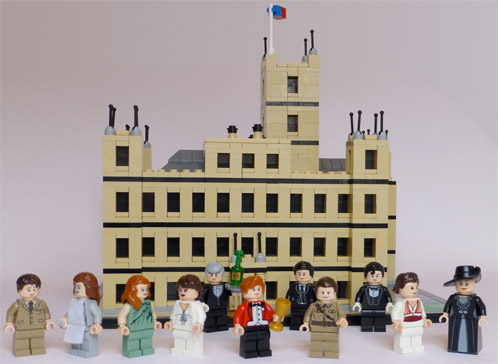 Downton Abbey recreated in Lego form