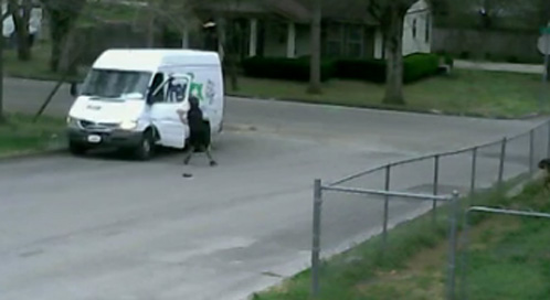 FedEx driver loses control of van
