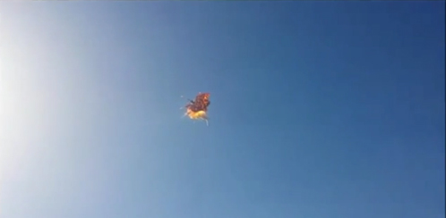Elon Musk Space-X rocket F9R explosion