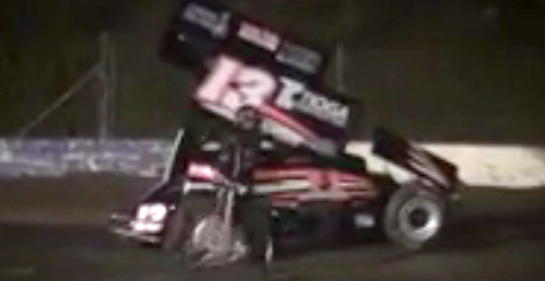Tony Stewart crash video from Canadaigua