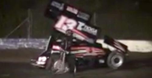Tony Stewart crash video from Canadaigua